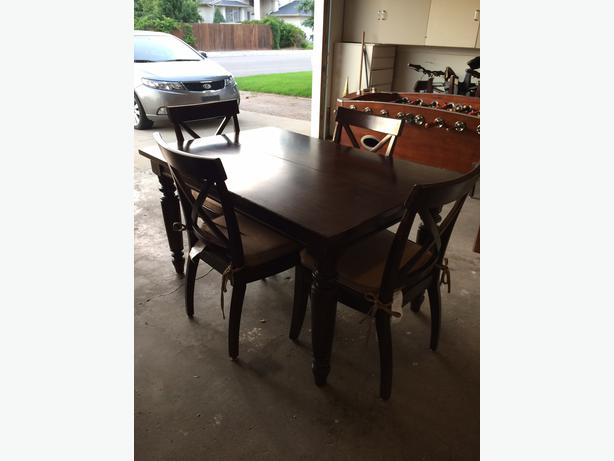 Beautiful costco bought dining table chairs east