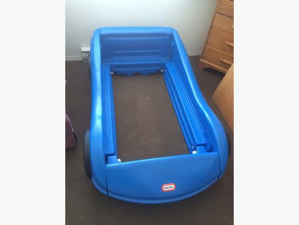 Little Tikes Blue Car Toddler Bed Standard Crib Mattress