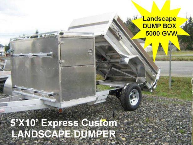 Used Tires Oshawa >> 5x13 Express Custom Landscape Dump Trailer Outside North ...