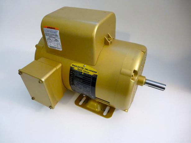 Baldor 1hp electric motor single phase premium super for Single phase motor efficiency