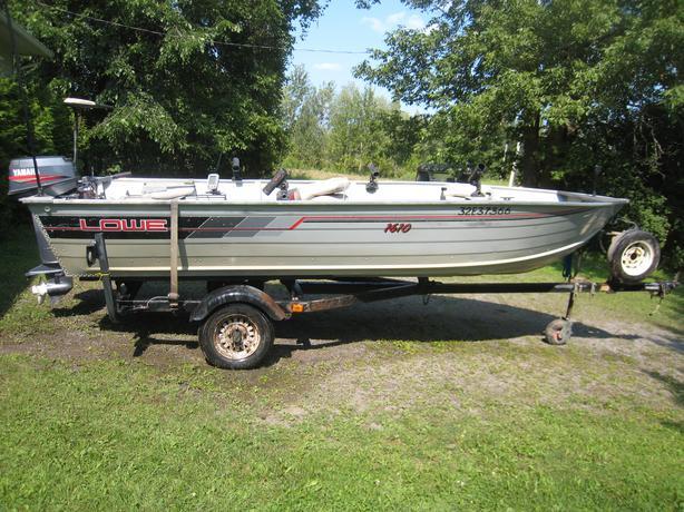 Lowe 16 fishing boat 25 yamaha minnkota trolling rideau for Yamaha fishing boats