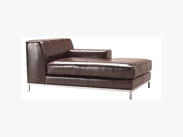 Ikea kramfors leather chaise lounge futon single bed west shore langford colwood metchosin - Leather futon ikea ...