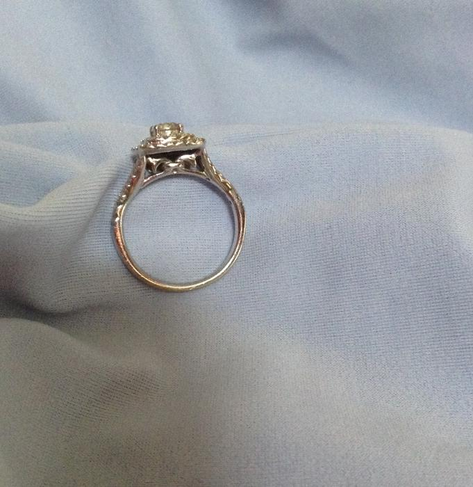 14k white gold michael hill engagement ring outside