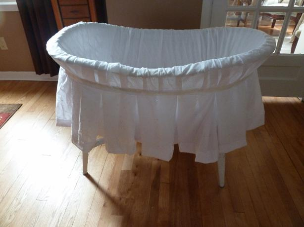 White Wicker baby Bassinet
