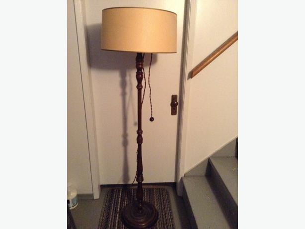 Vintage wooden floor lamp saanich victoria vintage wooden floor lamp aloadofball Gallery