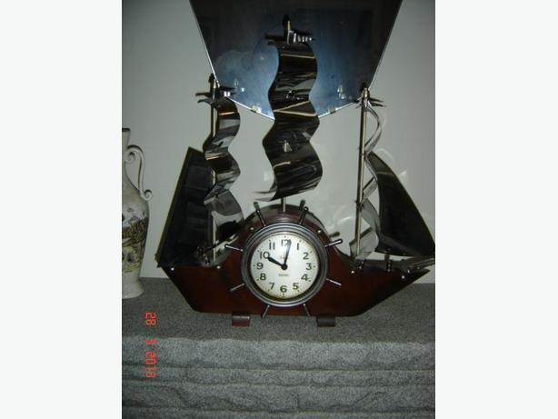 Antique Sail Ship Clock