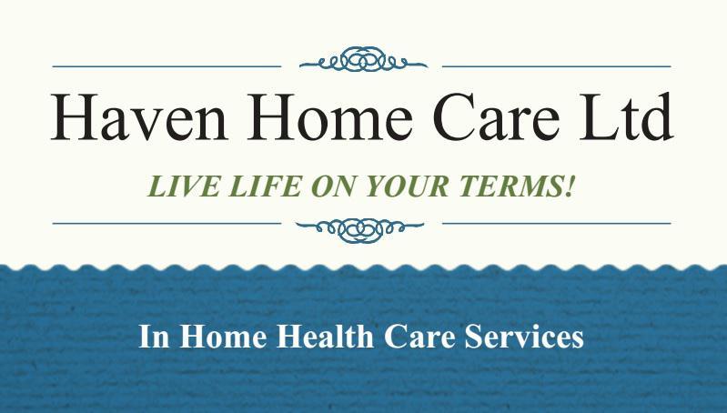 haven home care ltd north saanich sidney victoria. Black Bedroom Furniture Sets. Home Design Ideas