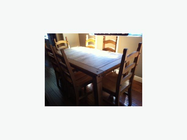 pier rustic pine dining room table chairs one canada furniture glass tables