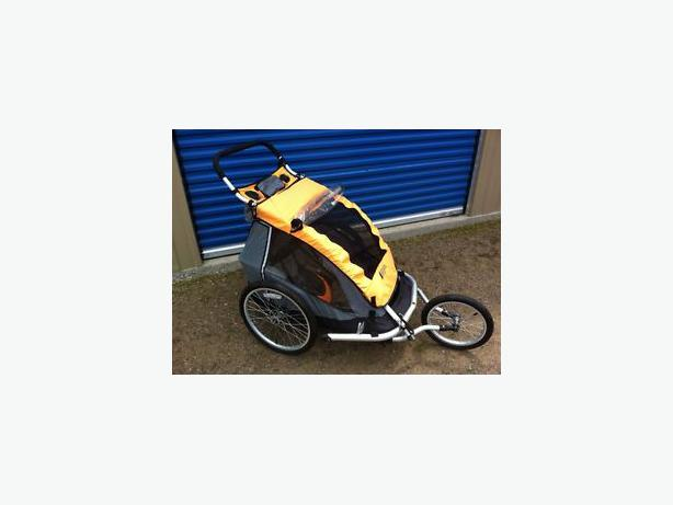 Mec Double Child Trailer Bike Stroller Jogging Included Central