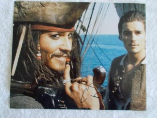 Johnny Depp Autographed 8x10 Photo