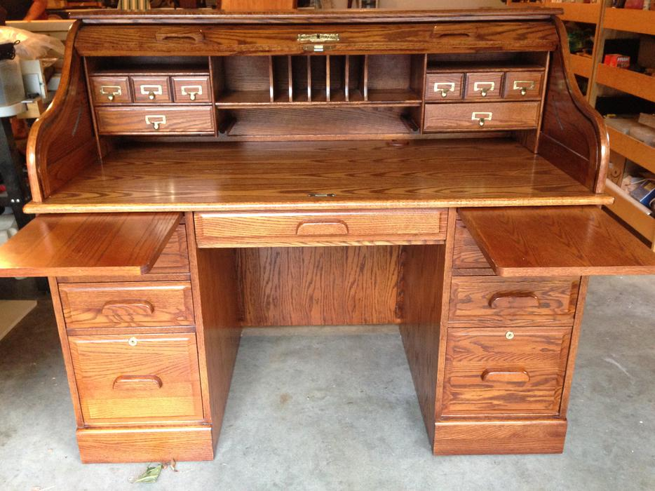 roll top desk oak winners only inc north saanich sidney victoria. Black Bedroom Furniture Sets. Home Design Ideas