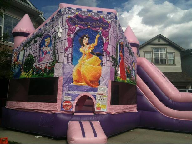 Princess Palace - Extra Large Inflatable Bouncer & Slide Combo Rental!