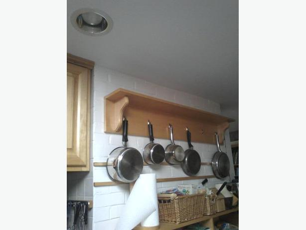 Wall mounted pot rack.   Brand New,   Built @ Cabnit Shop