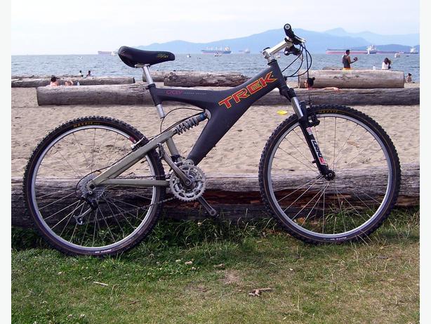 Trek Y Frame Oclv Carbon Fibre Full Suspension Mountain Bike