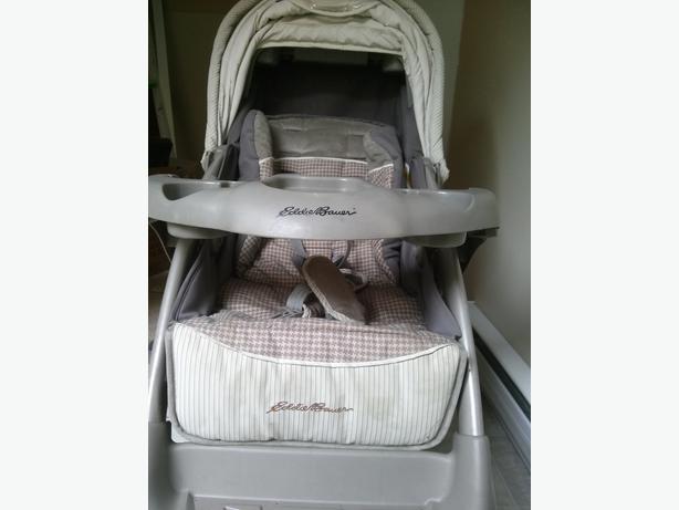eddie bauer endeavour stroller car seat travel system saanich victoria. Black Bedroom Furniture Sets. Home Design Ideas