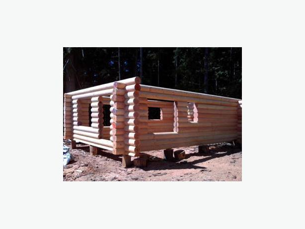 Log house cabin kits outside nanaimo parksville for Beach cabin kits