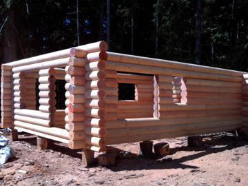 Log cabin house kits outside victoria victoria for Log cabin kit homes victoria