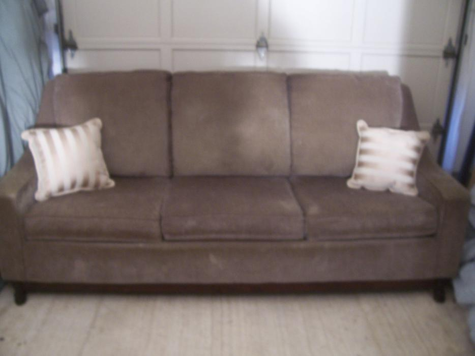 Must Go Asap Fancy And Elegant Sand Color 3 Seater Sofa