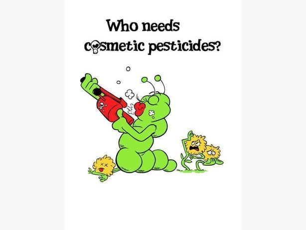 Anti-cosmetic pesticide t-shirt
