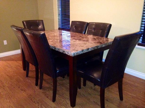 6 person dining room table sooke victoria for Dining room table 6 person