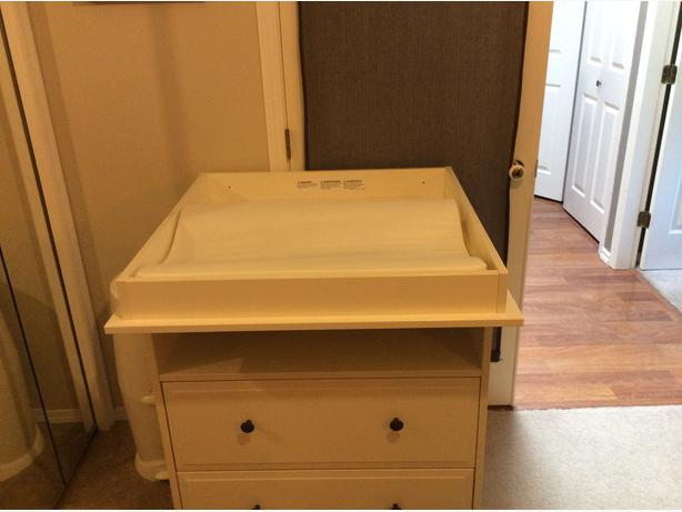 Ikea Hemnes Dresser Changing Table with table pad and two covers! $130 OBO Esquimalt& View