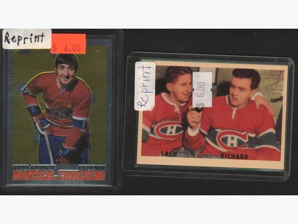 Rocket Richard/Lach Parkie Lapointe RC Reprints Montreal Canadiens