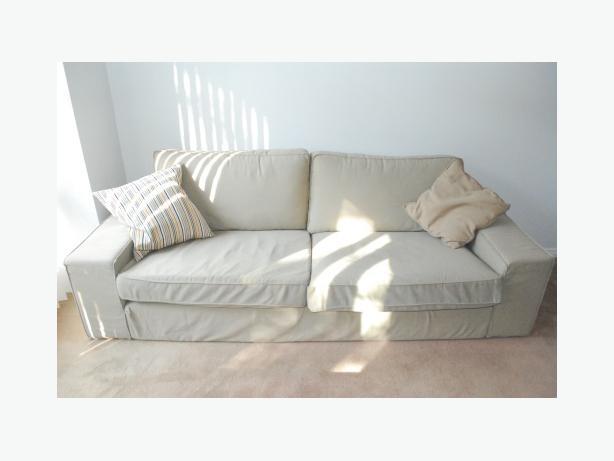 ikea kivik couch in beige 250 obo nepean ottawa. Black Bedroom Furniture Sets. Home Design Ideas