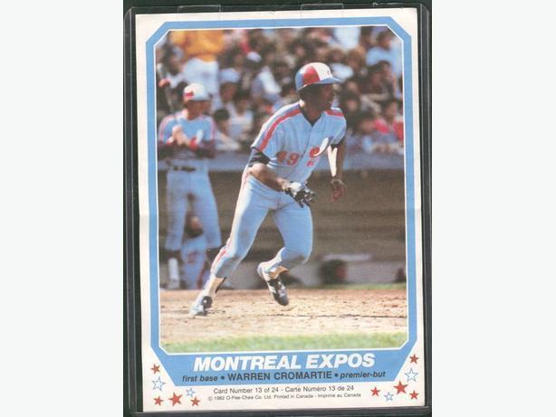 1982 O Pee Chee #13 Warren Cromartie Montreal Expos Mini Poster
