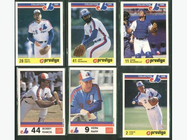 Lot of 6 Montreal Expos Cards 1980's