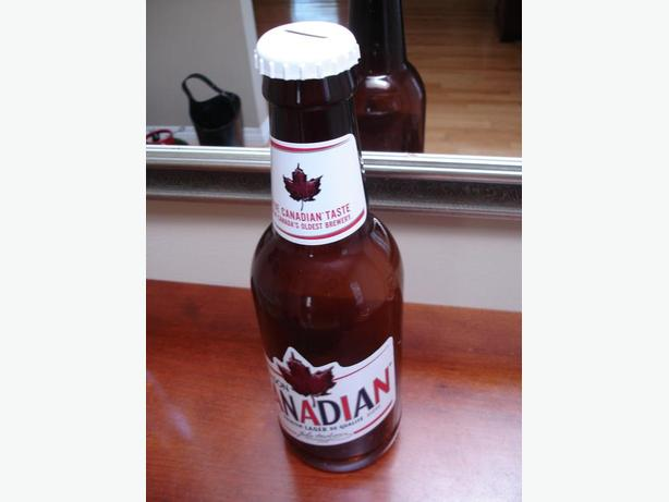 Molson canadian large oversized 14 tall novelty beer for Big bottle coin banks