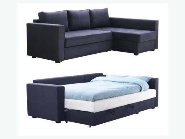 Ikea manstad navy sofa bed must go esquimalt view royal victoria - Divano ikea manstad ...