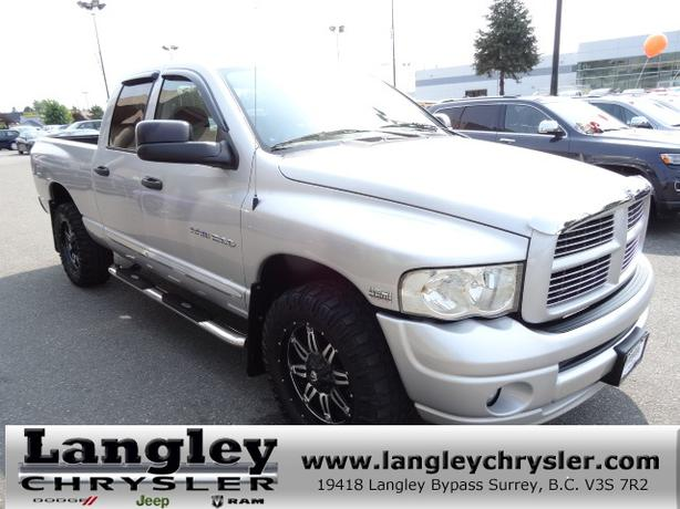 2005 Dodge Ram 1500 Slt W Leather Interior Power Accessories Langley Vancouver