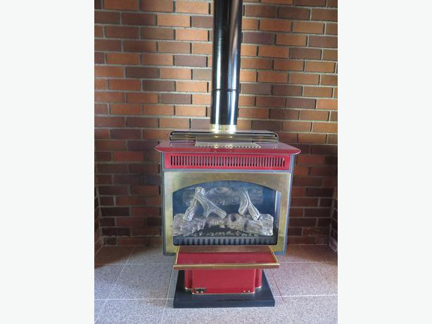 propane free standing fireplace north saanich sidney