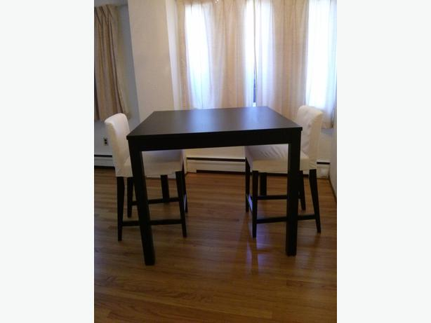 ikea bjursta henriksdal bar table and 2 bar stools oak bay victoria. Black Bedroom Furniture Sets. Home Design Ideas