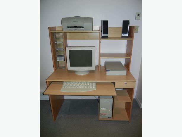 Computer desk bureau d 39 ordinateur gatineau sector - Bureau d ordinateur ...
