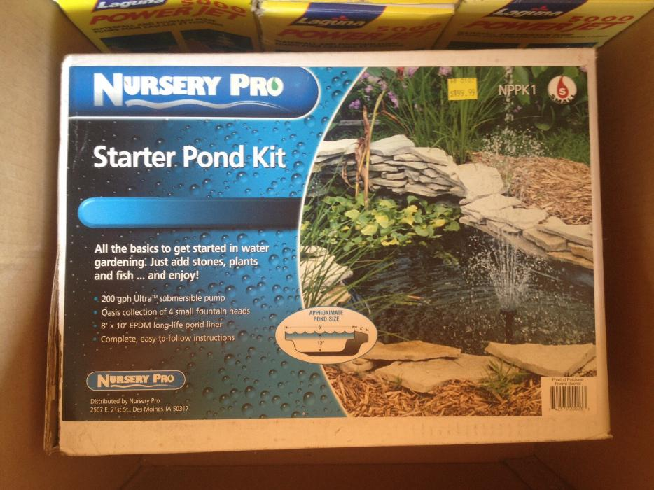 Complete Pond Kit By Nursery Pro Victoria City Victoria