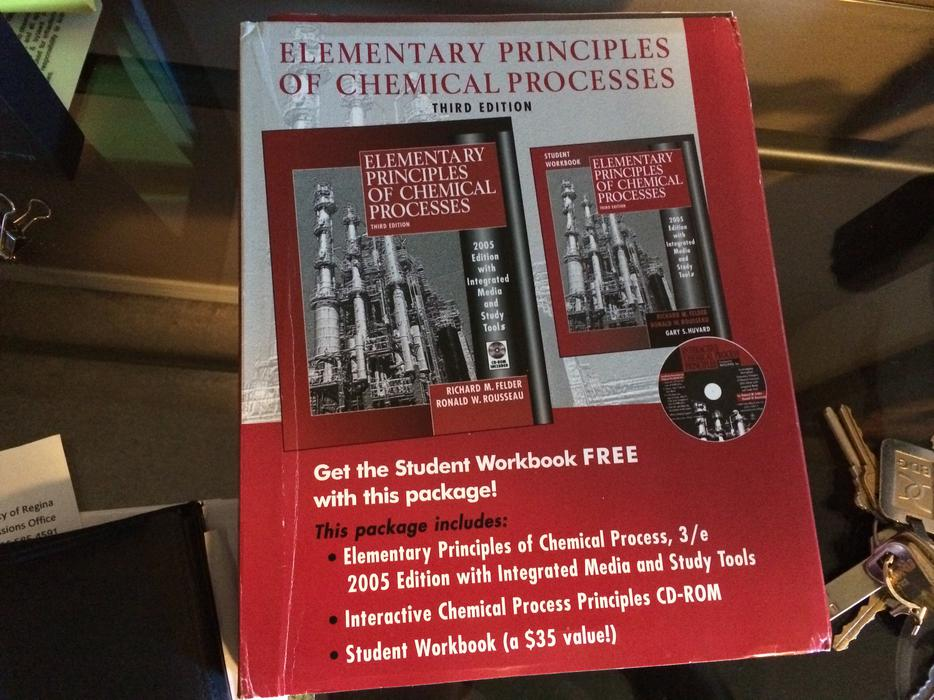 Elementary principles of Chemical processes solutions manual