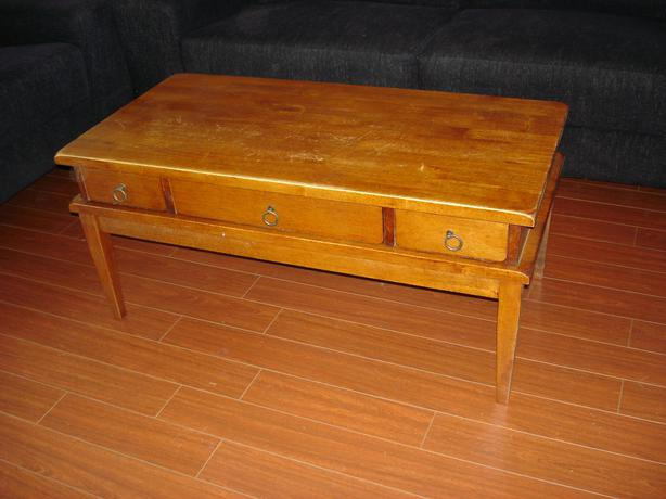 Solid Wood Coffee Table With Drawers Or Bench Victoria City Victoria