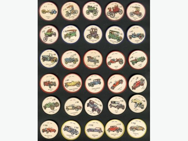 Lot of 51 Car Coins 1961 Jell-O