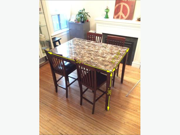 High dining table 4 chairs 2 bar stools Downtown Toronto  : 40558484614 from usedtoronto.com size 614 x 461 jpeg 35kB