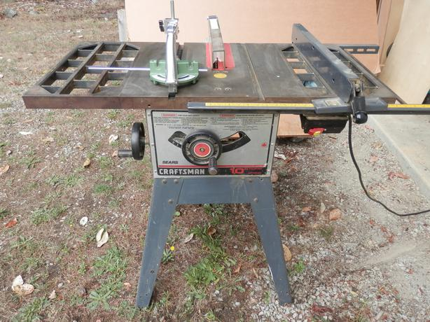 10 Craftsman Table Saw With Cast Iron Table Extensions Parksville Nanaimo