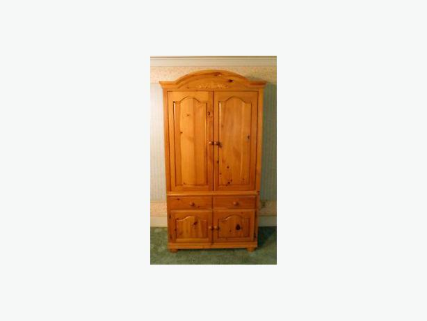 beautiful knotty pine wood armoire for sale hull sector. Black Bedroom Furniture Sets. Home Design Ideas