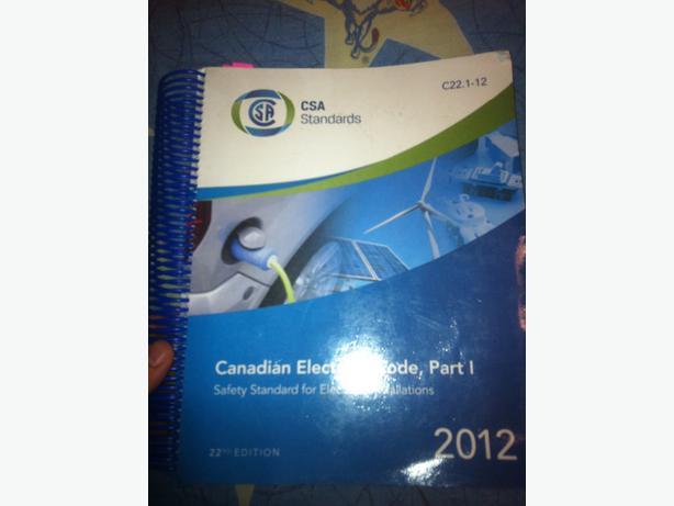 2012 Canadian Electrical Code Book North Regina, Regina