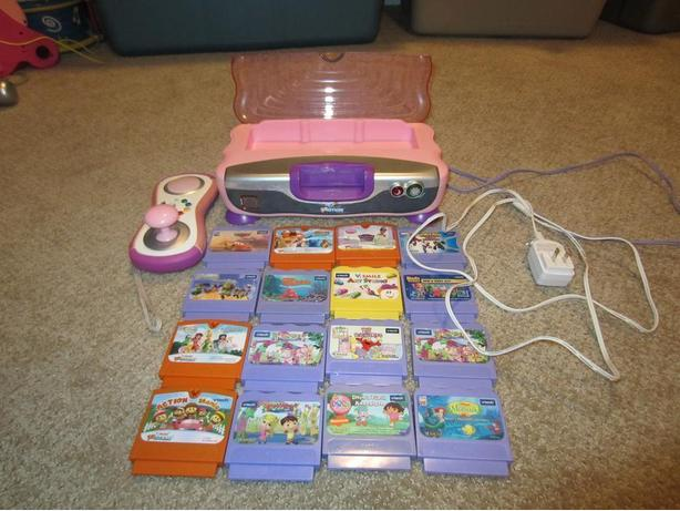 vtech video game system and games