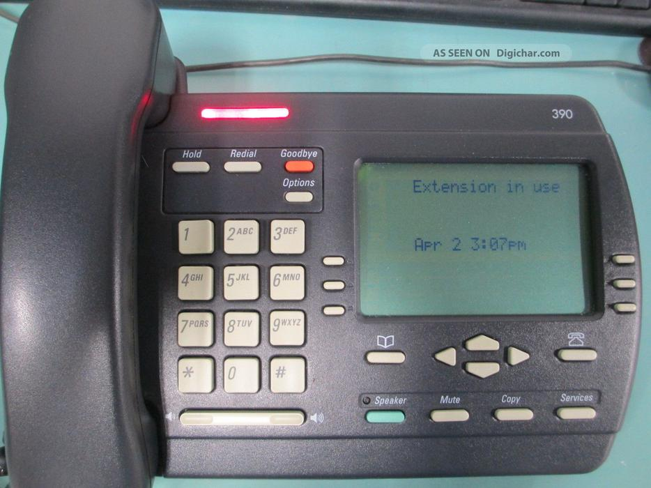 how to clear answering machine on nortel