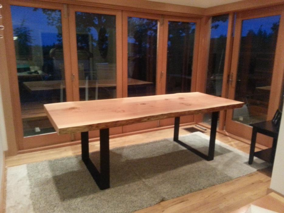Fir live edge dining tables victoria city
