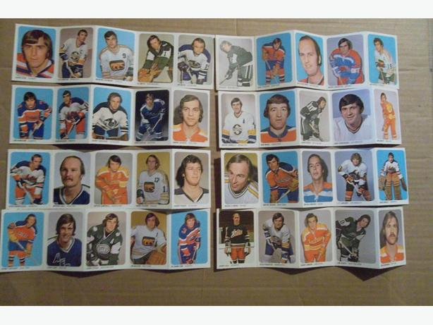 1973/74 Quaker WHA hockey cards - in panels - prices vary
