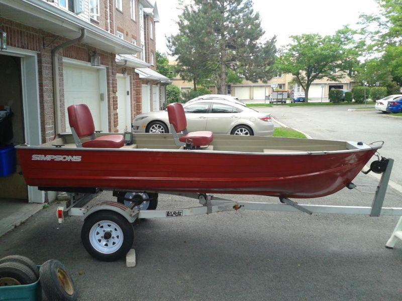12 foot aluminum fishing boat will deliver locally for Used aluminum fishing boats
