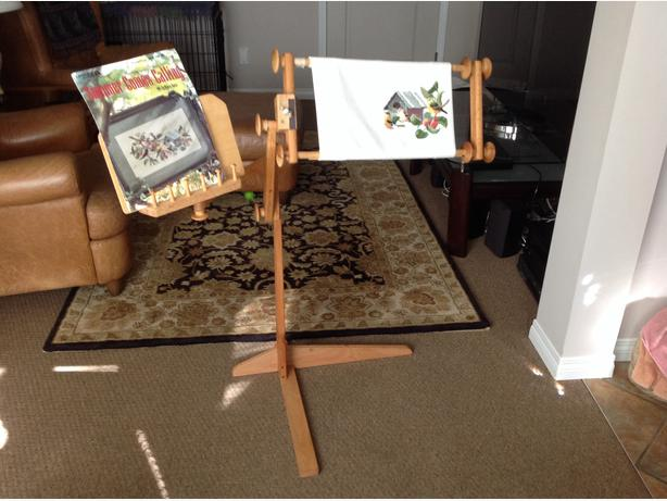 cross stitch wooden frame stand