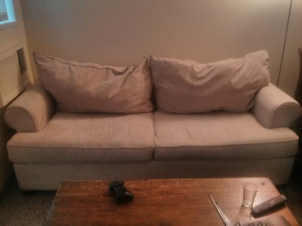 White suede couch with pullout bed for sale kelowna kelowna for Suede couches for sale